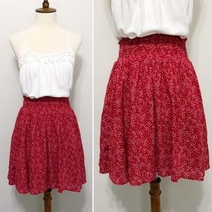 Star-Print Mini Skater Skirt